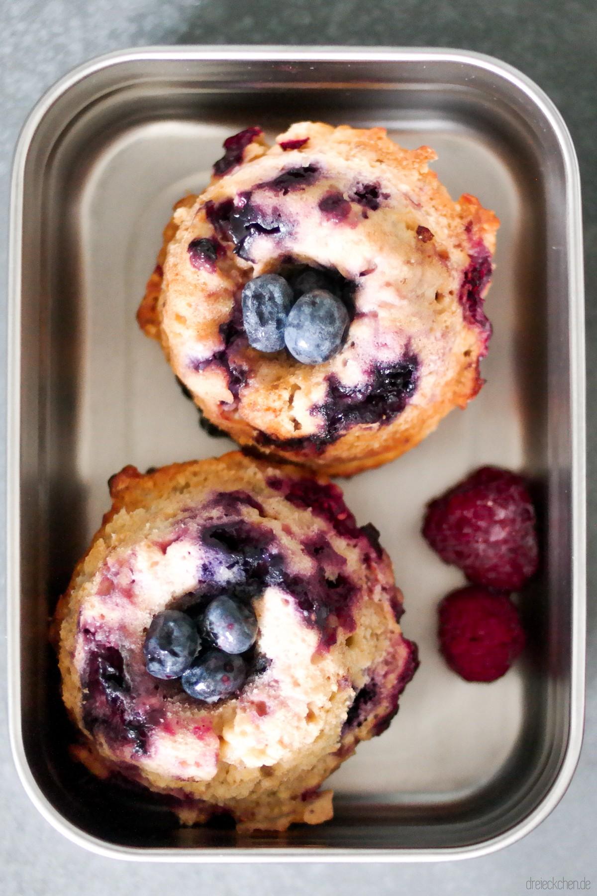 Muffins für Kinder mit Beeren und Quark